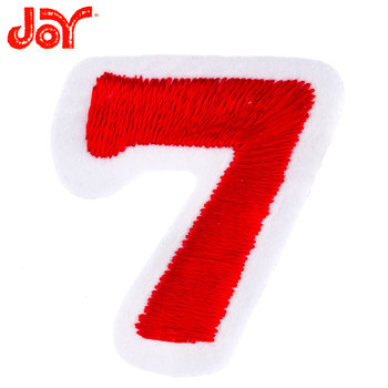 Red Number Iron-On Applique 7 - 1 1/2""